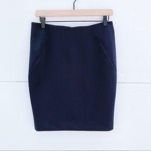 Bar III Navy Pencil Skirt